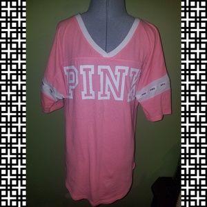 NWOT VS Pink Jersey Soft Sleep Lounge Shirt